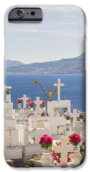 Cemetary iPhone Cases - Traditional greek orthodox cemetary. iPhone Case by Sophie McAulay