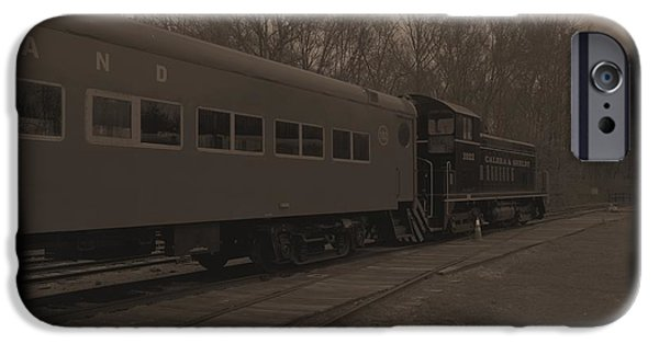 Old Cars iPhone Cases - Trains2 1a iPhone Case by Jay Mann