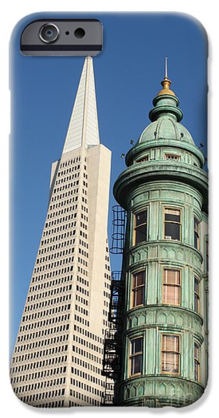 Business Photographs iPhone Cases - Transamerica Pyramid Building iPhone Case by Henrik Lehnerer