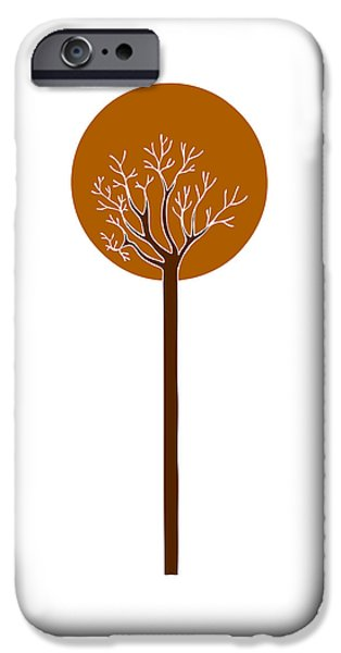 Nature Abstract Drawings iPhone Cases - Tree iPhone Case by Frank Tschakert