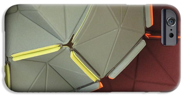 Rust iPhone Cases - Triangles iPhone Case by Cindy Kellogg