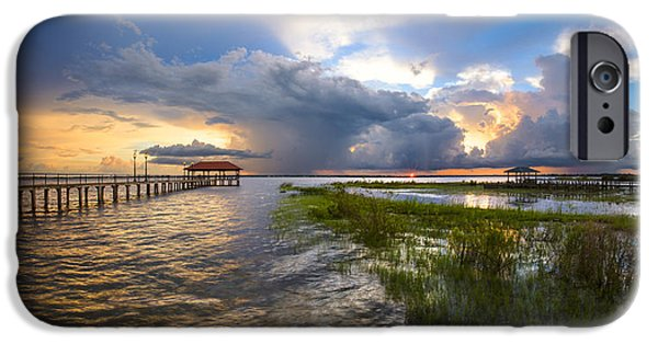 Recently Sold -  - Storm iPhone Cases - Tropical Thunderstorm iPhone Case by Debra and Dave Vanderlaan