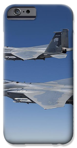 Two F-15 Eagles Conduct Air-to-air iPhone Case by HIGH-G Productions
