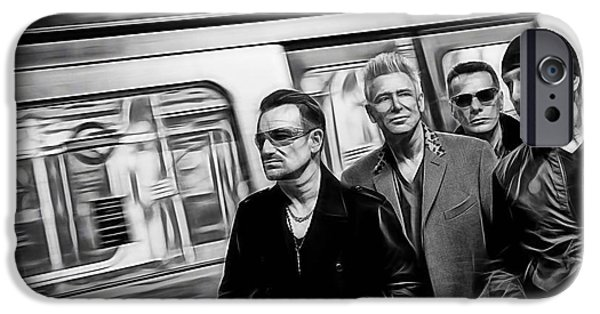 U2 iPhone Cases - U2 Collection iPhone Case by Marvin Blaine