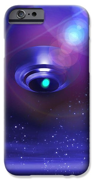 Terrestrial iPhone Cases - Ufo, Artwork iPhone Case by Victor Habbick Visions