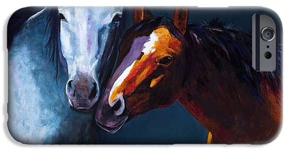 Equine Art iPhone Cases - Unbridled Love iPhone Case by Frances Marino