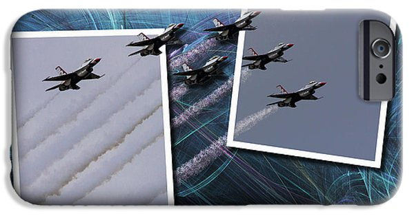 Flight iPhone Cases - USAF Thunderbirds iPhone Case by Roger Wedegis