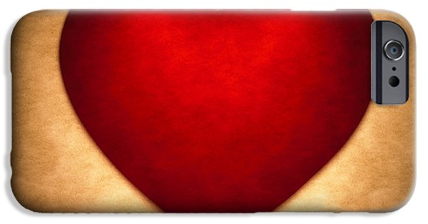 Concept Photographs iPhone Cases - Valentine Heart iPhone Case by Tony Cordoza