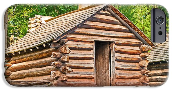 Historic Site iPhone Cases - Valley Forge Cabin iPhone Case by Michael Porchik