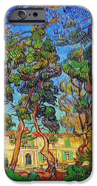 Provence Photographs iPhone Cases - Van Gogh: Hospital, 1889 iPhone Case by Granger