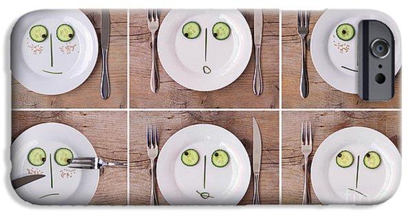 Concept Photographs iPhone Cases - Vegetable Faces iPhone Case by Nailia Schwarz