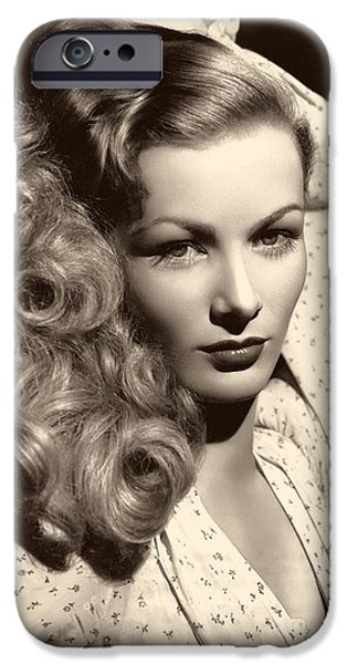 1950s Portraits iPhone Cases - Veronica Lake 1952 iPhone Case by Mgm