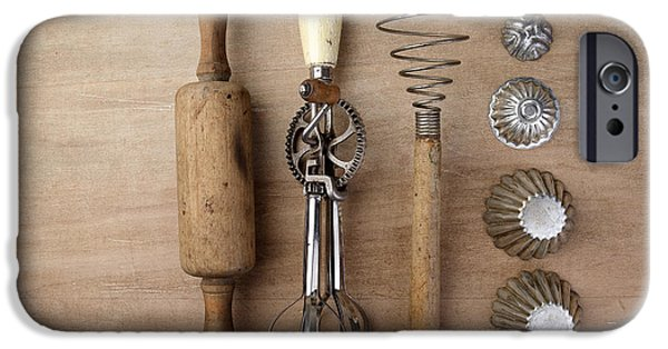 Mechanics Photographs iPhone Cases - Vintage Cooking Utensils iPhone Case by Nailia Schwarz