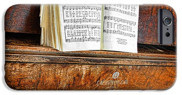 Piano Photographs iPhone Cases - Vintage Piano iPhone Case by Jill Battaglia