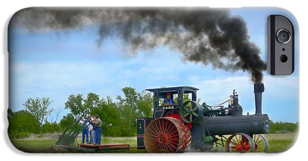 Machinery iPhone Cases - Vintage Steam Farming iPhone Case by F Leblanc