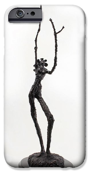 Votary of the Rain a sculpture by Adam Long iPhone Case by Adam Long