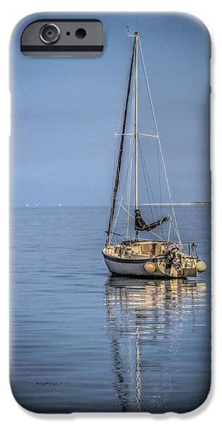 Sailboat Ocean iPhone Cases - Waiting  iPhone Case by Jane Luxton
