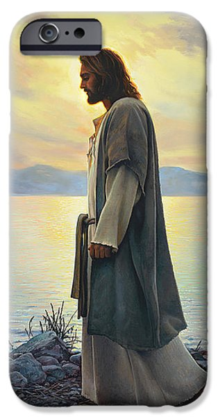 Ocean Sunset iPhone Cases - Walk with Me  iPhone Case by Greg Olsen