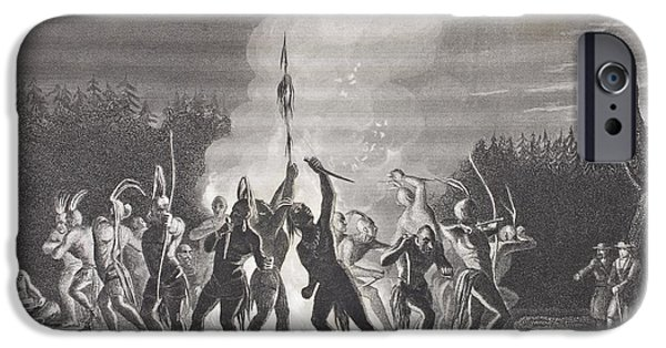 First Black President Drawings iPhone Cases - Washington And Fairfax At An Indian War iPhone Case by Ken Welsh