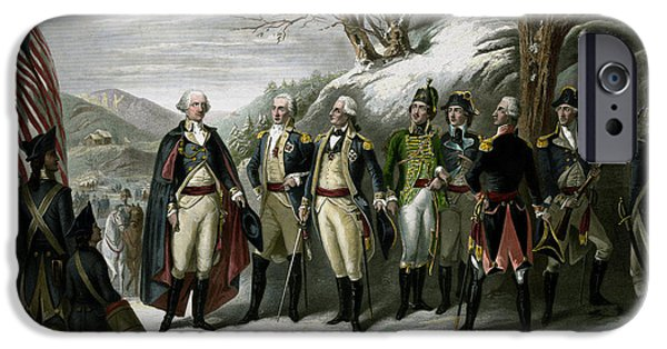 Patriotism Mixed Media iPhone Cases - Washington and His Generals iPhone Case by War Is Hell Store