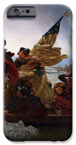 Washington Crossing The Delaware iPhone Case by Emanuel Leutze