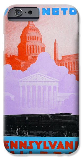 Landmarks Drawings iPhone Cases - Washington DC VI iPhone Case by David Studwell