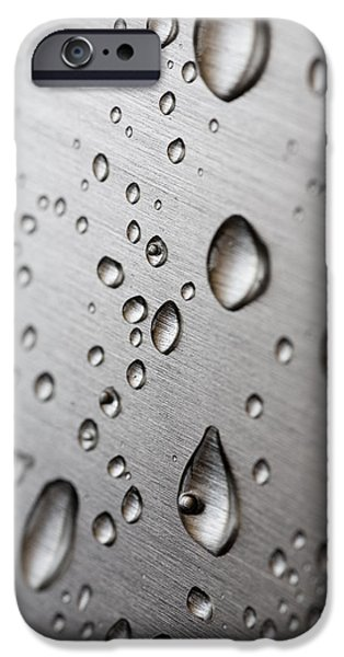 Stainless Steel iPhone Cases - Water Drops iPhone Case by Frank Tschakert