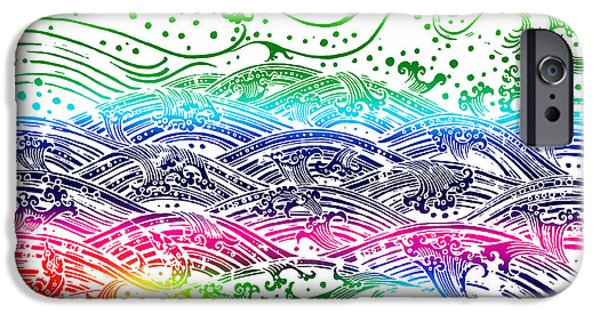 Interior Scene iPhone Cases - Water Pattern iPhone Case by Setsiri Silapasuwanchai