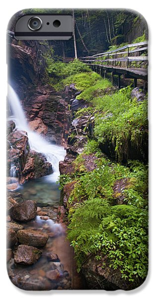 White Mountains iPhone Cases - Waterfall  iPhone Case by Sebastian Musial