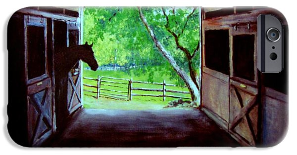 Jack Skinner Paintings iPhone Cases - Waters Edge Farm iPhone Case by Jack Skinner