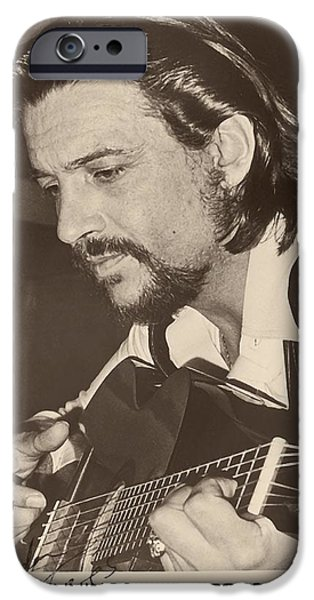Autographed Photographs iPhone Cases - Waylon Jennings 1971 Signed iPhone Case by Rca