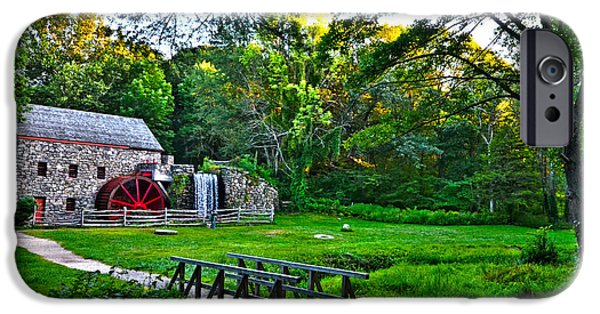 Sudbury Ma iPhone Cases - Wayside Inn Grist Mill iPhone Case by Toby McGuire