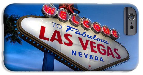 Fabulous iPhone Cases - Welcome To Las Vegas iPhone Case by Steve Gadomski