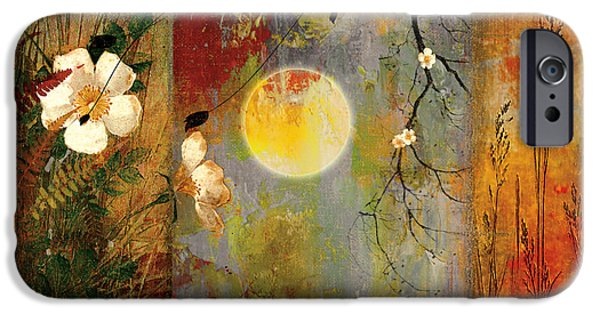 Moonscape iPhone Cases - Whisper Forest Moon II iPhone Case by Mindy Sommers