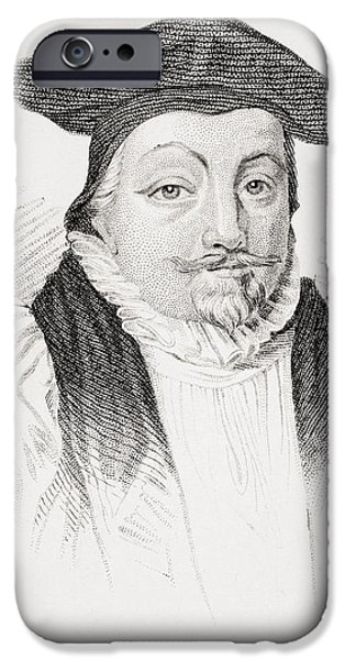 Religious Drawings iPhone Cases - William Laud 1573-1645 Archbishop Of iPhone Case by Ken Welsh