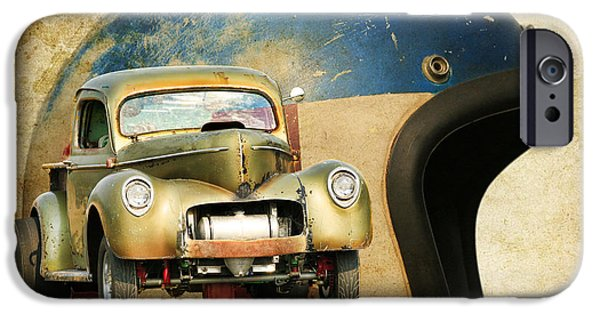 Racing iPhone Cases - Willys Gasser Art iPhone Case by Steve McKinzie