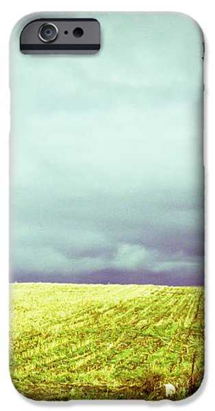 Windmill Against Autumn Sky iPhone Case by Gordon Wood