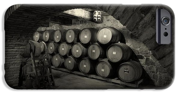 Business iPhone Cases - Wine Barrels iPhone Case by Mountain Dreams