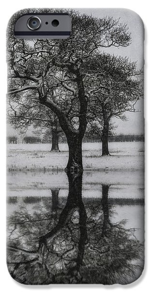 Snow Scene iPhone Cases - Winter Lake iPhone Case by Ian Mitchell