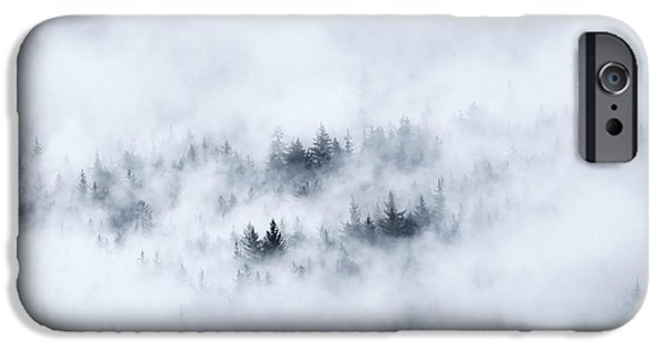Fog Mist Photographs iPhone Cases - Winter iPhone Case by Mike  Dawson