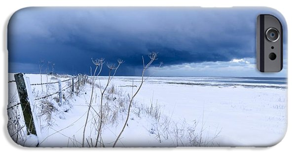 Winter Storm iPhone Cases - Winter Storm Clouds iPhone Case by Duncan Shaw