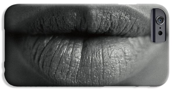 Lips iPhone Cases - Womans Lips iPhone Case by Cristina Pedrazzini