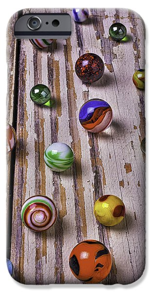 Chip iPhone Cases - Wonderful Marbles iPhone Case by Garry Gay