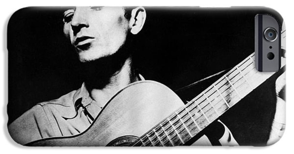Woody Guthrie iPhone Cases - Woody Guthrie (1912-1967) iPhone Case by Granger
