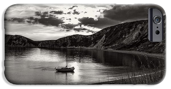 Ocean Sunset iPhone Cases - Worbarrow Bay At Dusk iPhone Case by Roman Grac
