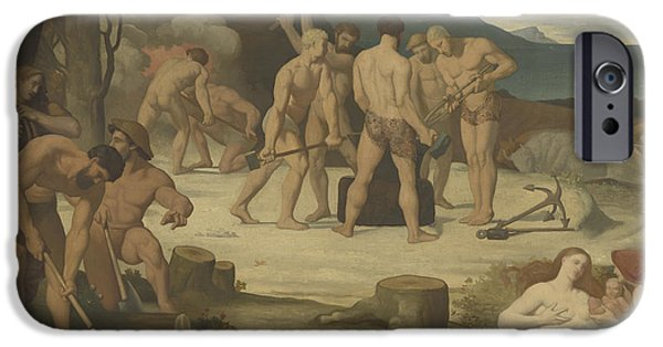Laborers iPhone Cases - Work iPhone Case by Pierre Puvis de Chavannes