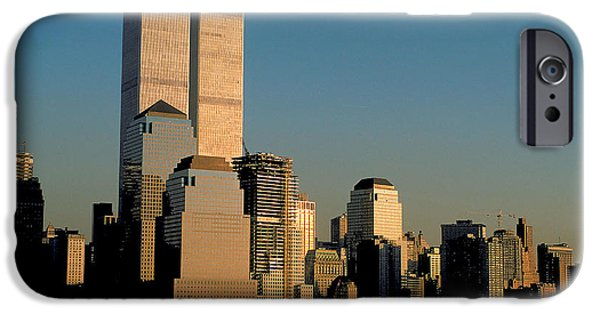 Hudson River iPhone Cases - World Trade Center in NYC iPhone Case by Carl Purcell