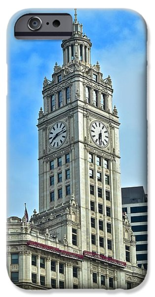Wrigley iPhone Cases - Wrigley Building iPhone Case by Frozen in Time Fine Art Photography