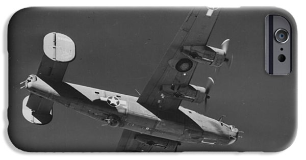 Jet Star iPhone Cases - WWII US Aircraft In Flight iPhone Case by American School