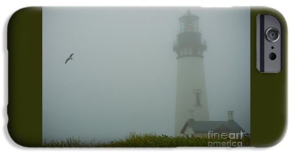 Beach iPhone Cases - Yaquina Head Lighthouse iPhone Case by Nick  Boren